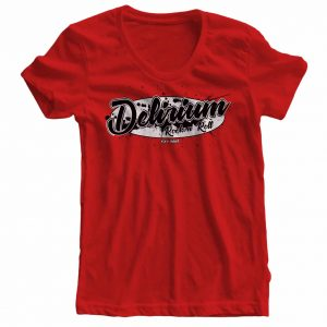 rotes Frauenshirt der Band Delirium Rock n Roll